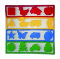 Мини-коврик Логика, для изучения цветов, геометрических фигур и развития логики, 1+