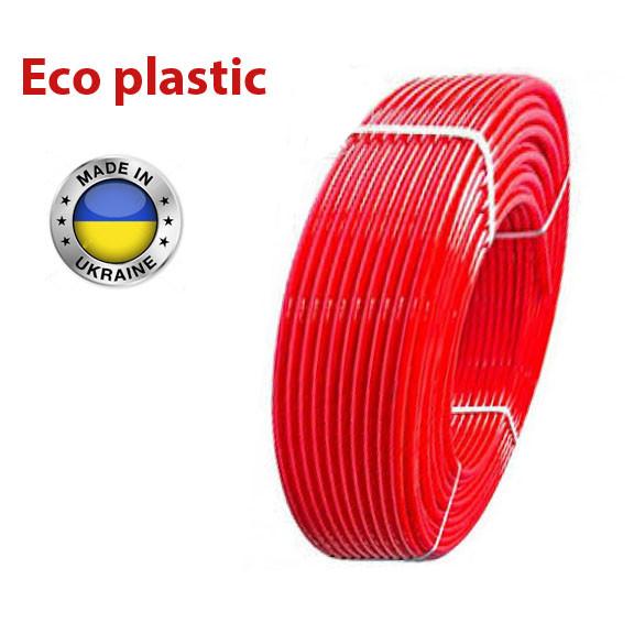Труба для теплого пола ECO plastic. 16, pex -b. Труба для отопления.
