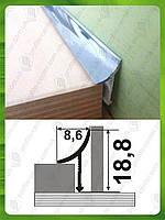 Внутренний угол для плитки, универсальный. АВП L-2.7м.
