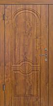 Двери уличные, серия Стандарт, модель Омега, гнутый профиль, 2 контура уплотнения, 2 замка
