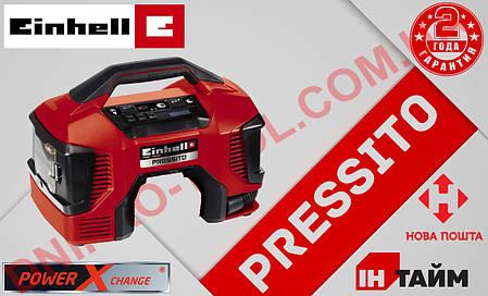 (Power X-Change) Аккумуляторный гибридный компрессор Einhell PRESSITO - Solo  (4020460), фото 2