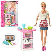 Игровой набор - кукла типа барби серия Дефа Defa Повар, кухня - плита, посуда,8421