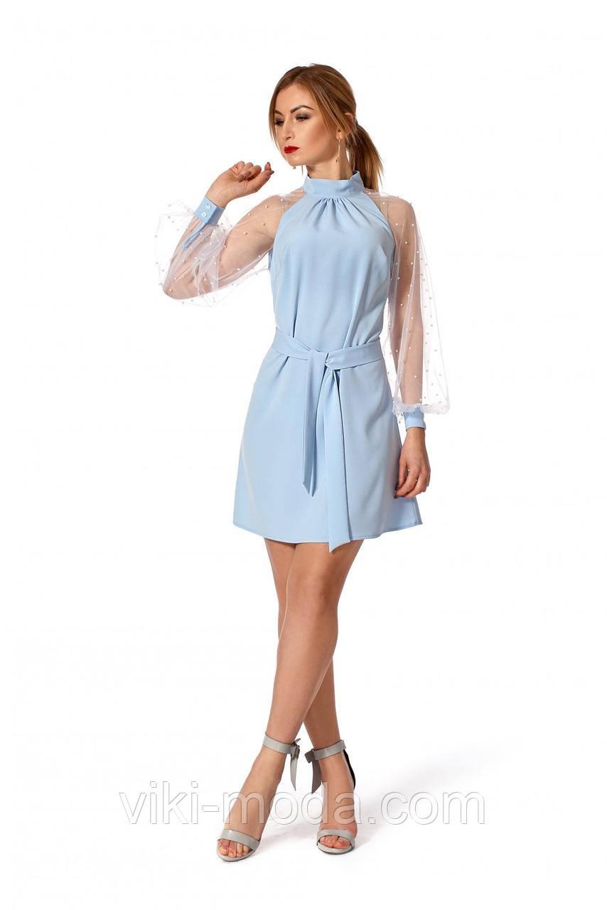 8d525aa2f309443 Вечернее платье А-образного силуэта, длиной выше колена - Оптово -  розничный магазин одежды