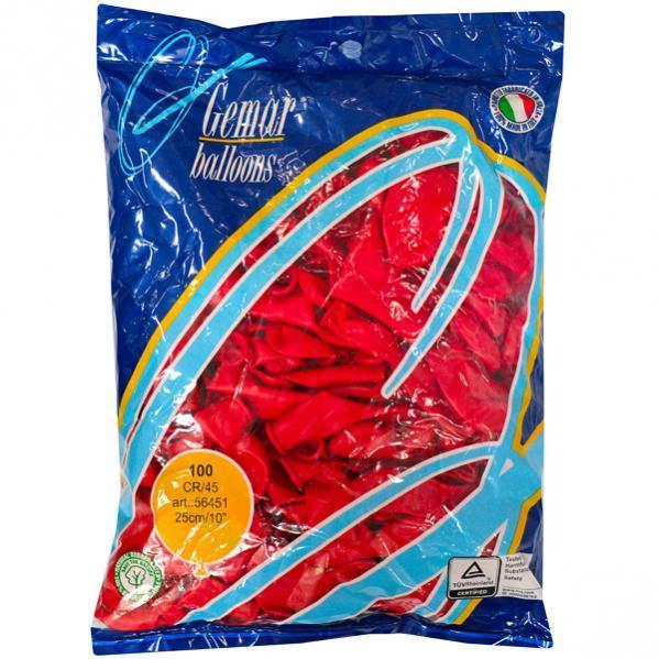 Шарики «Сердце» пастель красный CR/45      56451