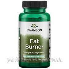 Зниження маси тіла, купити надлишкового жиру - Фат Бернер, Swanson Fat Burner 60 tablets