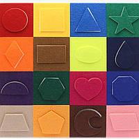 Мини-коврик Геометрия, для изучения цветов и геометрических форм, 1+, фото 1