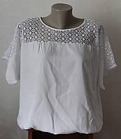 Блузка женская летняя белая, фото 1