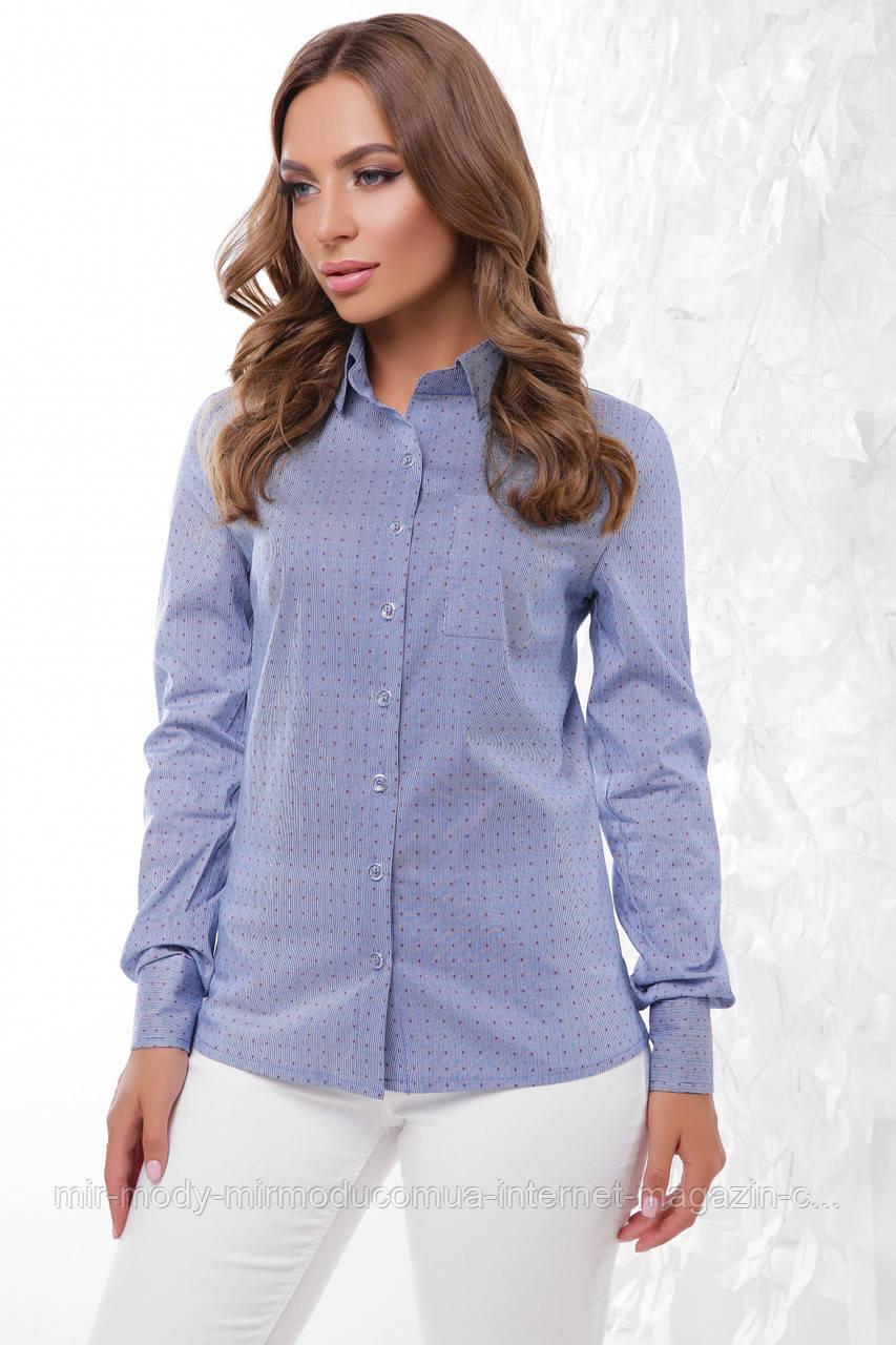 Блуза 1766 джинс  50 размер(мас)