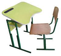 Комплект: Парта «Домашняя», 1-местная, антисколиозная, ростовых групп № 4,5,6 — 700х500х640-700-760 мм + стул
