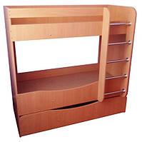 Кровать детская, 3-ярусная — 1432х750/1250х1420  мм