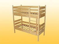 Кровать детская, 2-ярусная, из натуральной древесины — 1458х662х1480 мм
