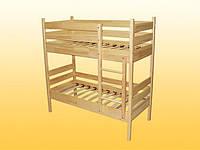 Кровать детская, 2-ярусная, из натуральной древесины