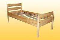 Кровать детская, одноярусная, из натуральной древесины