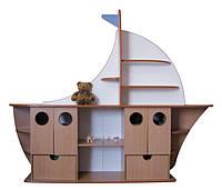 Стенка для игрушек «КОРАБЛЬ» — 2400х420х1900 мм