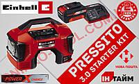 (Power X-Change) Аккумуляторный гибридный компрессор Einhell PRESSITO + 3.0 Акб + ЗУ (4020460-3)