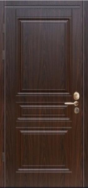 Двери уличные, серия Стандарт, модель Рубин, гнутый профиль, 2 контура уплотнения, 2 замка
