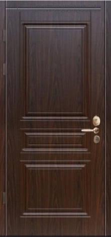 Двери уличные, серия Стандарт, модель Рубин, гнутый профиль, 2 контура уплотнения, 2 замка, фото 2