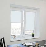 Рулонные шторы для окон в закрытой системе Sunny с плоскими направляющими - ПЛАСТИК.