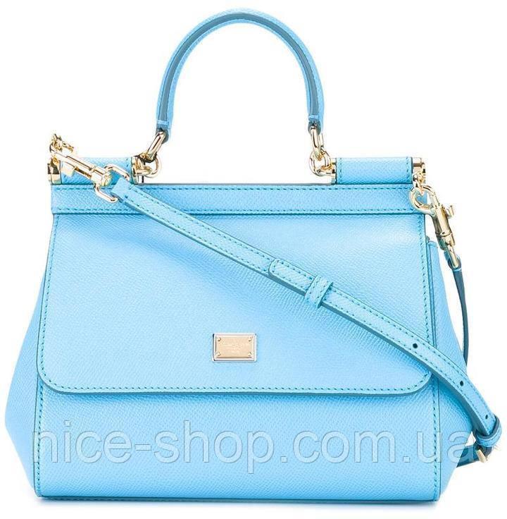 Сумка Dolce&Gabbana голубая, мини