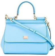 Люкс-реплика сумка Dolce&Gabbana, голубая, мини