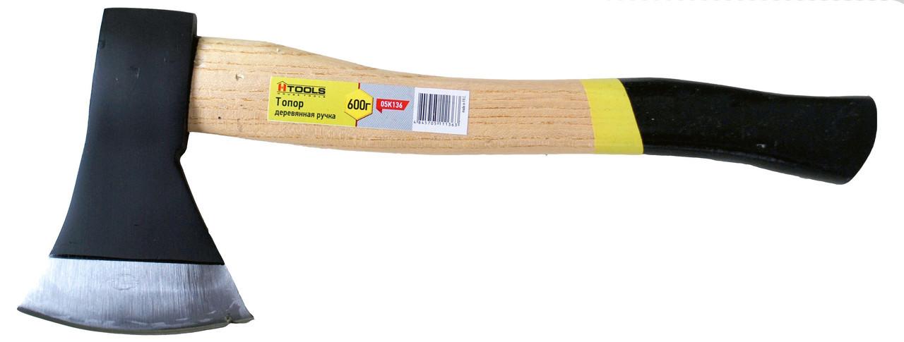 Топор 600 г ручка из твердых сортов древесины Htools 05K136