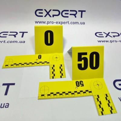 Набір Л-подібних пластикових номерків 0-50 з лінійкою, фото 2
