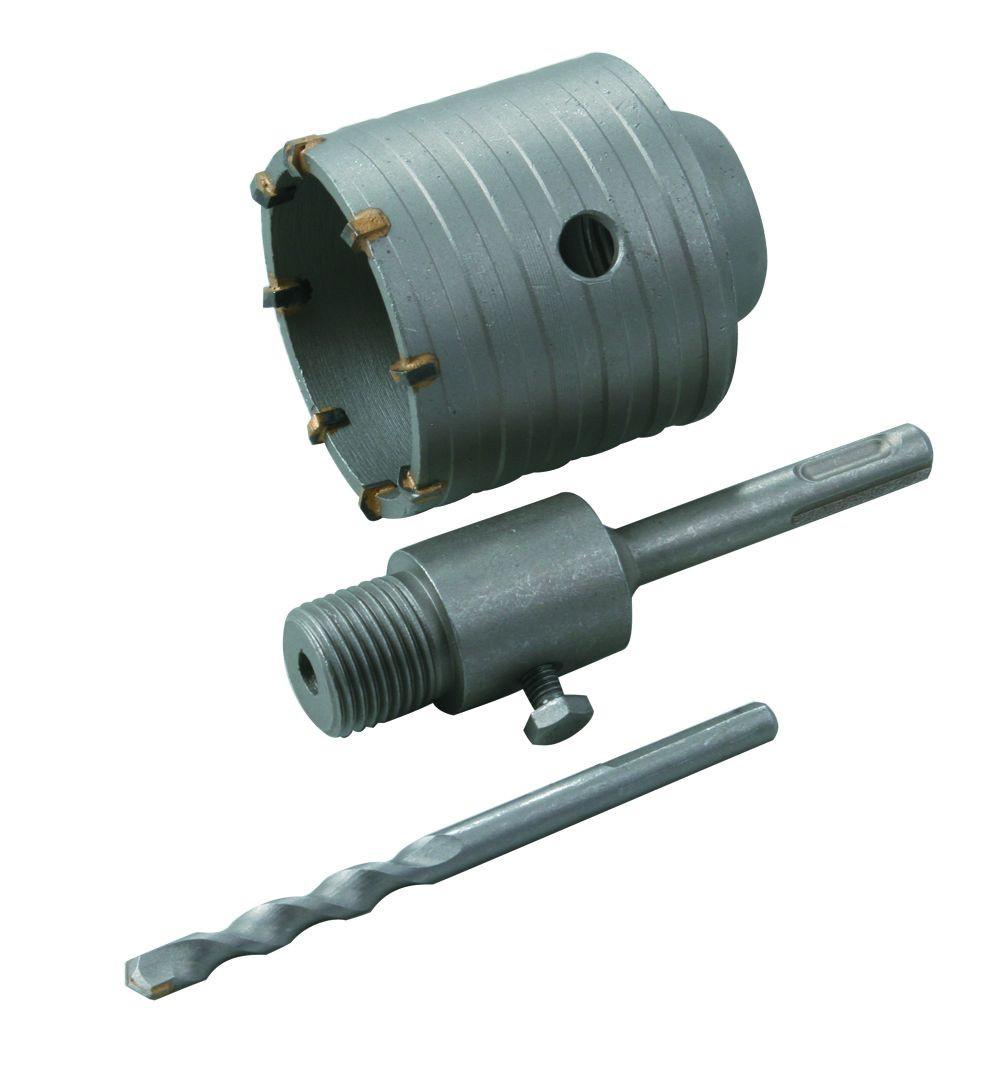 Комплект: сверло корончатое по бетону 65 мм+ переходник SDS Plus Htools 60K265