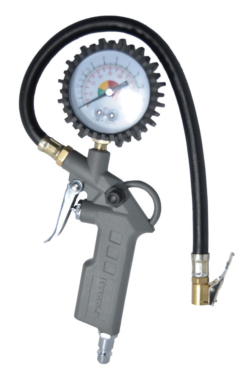 Пистолет для подкачки колес с манометром 63 мм пневматический Htools 80K503