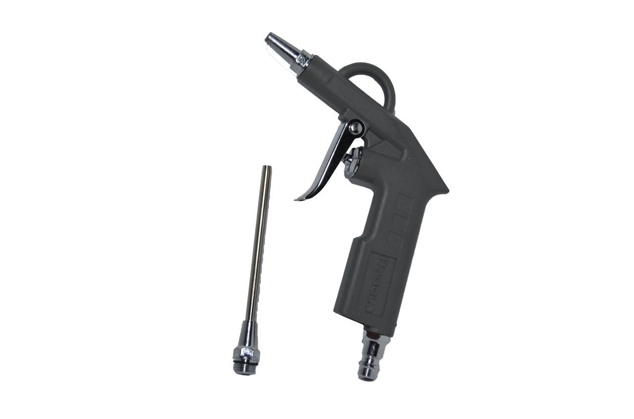 Пистолет продувочный короткий с дополнительным наконечником 120 мм Htools 80K804