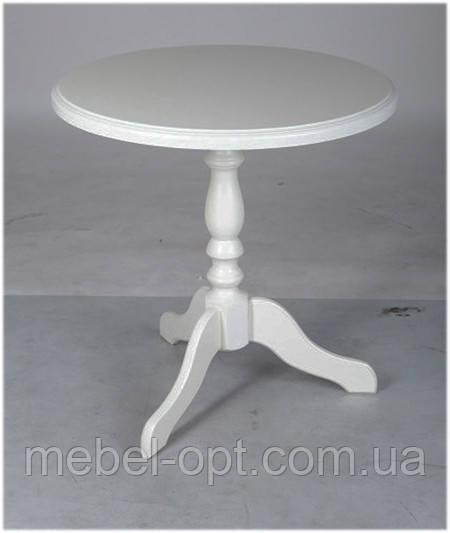 Деревянный обеденно-кофейный стол Одиссей, цвет белый