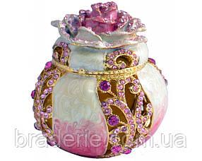 Шкатулка ювелирная 1463 бутон в подарочной коробке