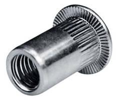 Резьбовая заклепка М3, оцинкованая, плоский бортик ( в 1 упаковке 25 шт)
