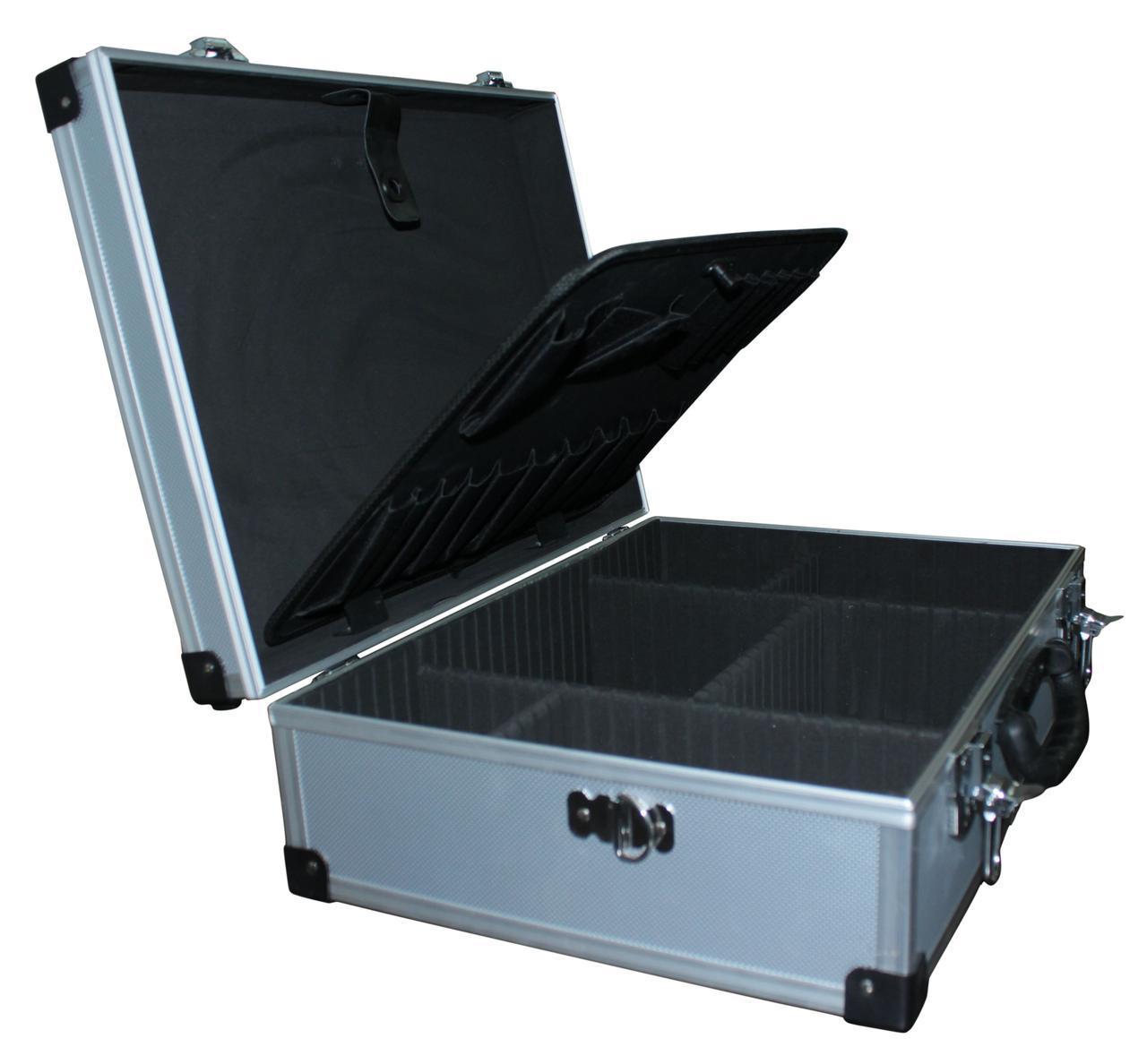 Ящик для инструмента алюминиевый Housetools 79K220-s с перегородками (455*330*150 мм)