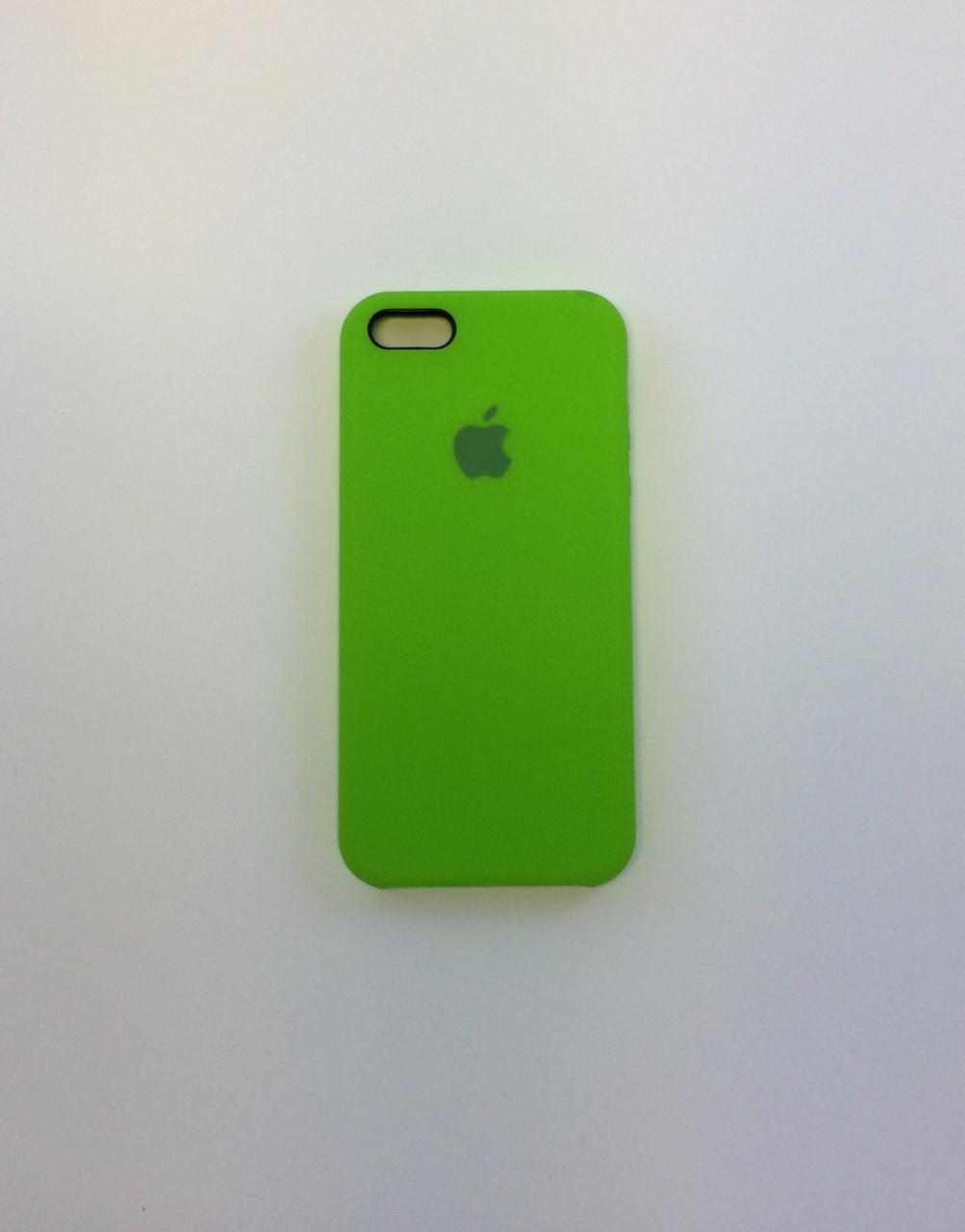 Силиконовый чехол для iPhone 5/5s/SE, - «лайм» - copy original