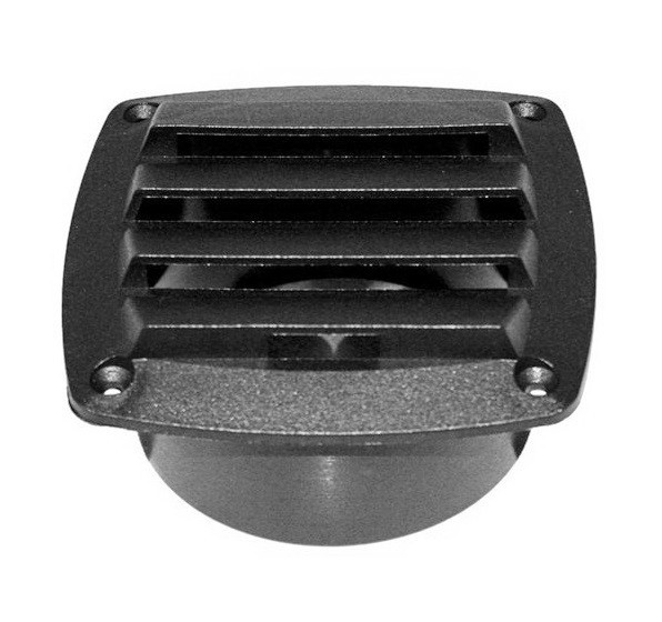 Вентиляционная крышка для транца, черная