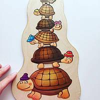 Пазл Черепашки развивающая игра для изучения размера, 1+, фото 1
