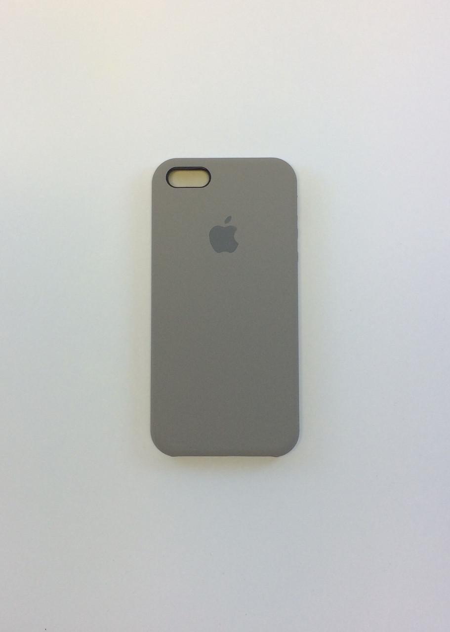 Силиконовый чехол для iPhone 5/5s/SE, - «темная олива» - copy original