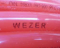 Труба для теплого пола c кислородным барьером 600 метров PE-RT 16х2 WEZER
