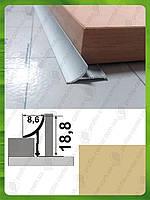 Внутренний угол для плитки, универсальный. АВП L-2.7м. Капучино (краш)