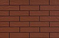 Фасадная плитка Cerrad Brown 24,5x6,5 коричневая рустикальная