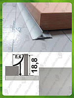 Внутренний угол для плитки, универсальный. АВП L-2.7м. Серебро (анод)