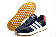 Кроссовки унисекс в стиле Adidas Iniki Runner, Синий/Белый
