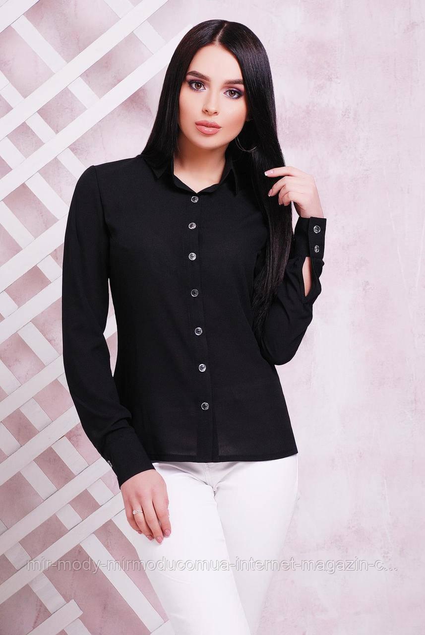 Блуза 1716 черный (3 цвета) 42 по 50 размер(мас)