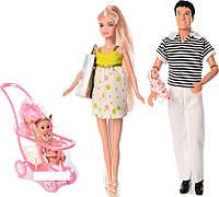 Кукла DEFA 8088 беременная KEN 29,5 см 2 пупса HN