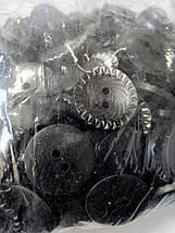 SALE ОПТ от 100шт Пуговица пластик черная 25мм, фото 3