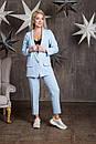 Женский брючный классический костюм с прямым пиджаком 64ks1060, фото 2