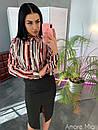Женский юбочный костюм с шелковой рубашкой 73ks1062, фото 4
