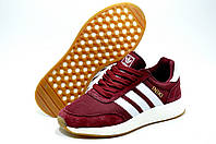 Кроссовки женские в стиле Adidas Iniki Runner, Бордовый