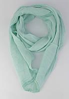 Итальянский шарф Girandola 0001-49 бирюзовый однотонный, коттон 80%, шелк 20%