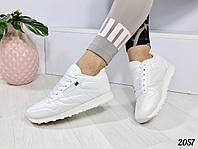 Женские кроссовки-кеды белые Flag 2057